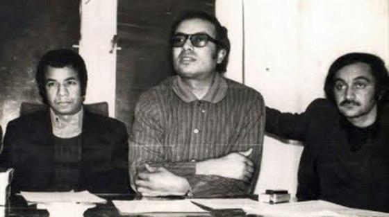 """صورة مأخوذة من مقال أمير العمرى """"ذكريات حول تاريخ السينما"""" (الرابط في اسفل المقال) الصورة ليوسف شريف رزق الله (اليمين) مع فتحي فرج (الوسط) واحمد رأفت بهجت (على اليسار)"""